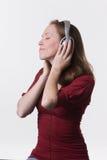 γυναίκα 07 ακουστικών Στοκ φωτογραφία με δικαίωμα ελεύθερης χρήσης