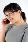 γυναίκα 14 τηλεφώνων Στοκ Φωτογραφίες