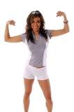 γυναίκα 6 workout στοκ φωτογραφίες