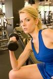 γυναίκα 7 weightlifter Στοκ Φωτογραφία