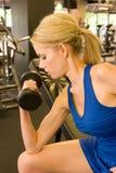 γυναίκα 8 weightlifter Στοκ Φωτογραφία