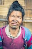 Γυναίκα Apatani σε Arunachal Pradesh Στοκ Φωτογραφία