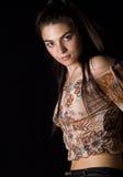 γυναίκα brunette Στοκ εικόνες με δικαίωμα ελεύθερης χρήσης