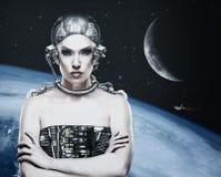 Γυναίκα Cyborg Στοκ φωτογραφίες με δικαίωμα ελεύθερης χρήσης