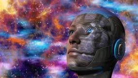 Γυναίκα Cyborg - Humanoid ελεύθερη απεικόνιση δικαιώματος