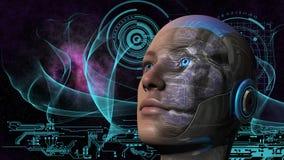Γυναίκα Cyborg - Humanoid απεικόνιση αποθεμάτων