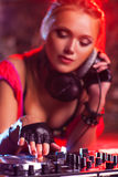 Γυναίκα DJ Στοκ Εικόνες