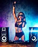 Γυναίκα DJ Στοκ φωτογραφίες με δικαίωμα ελεύθερης χρήσης