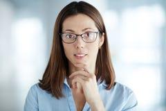 Γυναίκα eyeglasses Στοκ Εικόνες
