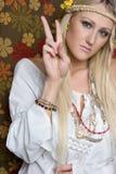 Γυναίκα Hippie Στοκ Εικόνες