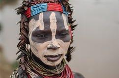 Γυναίκα Karo από το χωριό Kolcho Στοκ Εικόνες