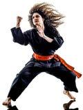 Γυναίκα Kung Fu Pencak Silat που απομονώνεται Στοκ φωτογραφία με δικαίωμα ελεύθερης χρήσης