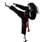 Γυναίκα Kung Fu Pencak Silat που απομονώνεται Στοκ Εικόνα