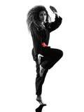 Γυναίκα Kung Fu Pencak Silat που απομονώνεται Στοκ Εικόνες