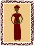 γυναίκα kwanzaa Στοκ Φωτογραφίες