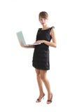 γυναίκα lap-top Στοκ φωτογραφίες με δικαίωμα ελεύθερης χρήσης
