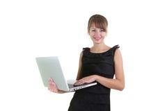 γυναίκα lap-top στοκ εικόνες με δικαίωμα ελεύθερης χρήσης