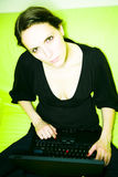 γυναίκα lap-top στοκ φωτογραφίες