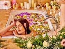 Γυναίκα luxury spa Στοκ Φωτογραφίες