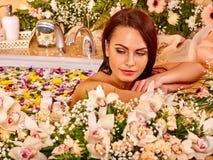 Γυναίκα luxury spa Στοκ Φωτογραφία
