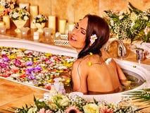 Γυναίκα luxury spa Στοκ Εικόνες