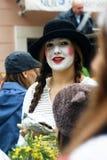 Γυναίκα mime Στοκ φωτογραφία με δικαίωμα ελεύθερης χρήσης