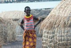 Γυναίκα molo EL κοντά στη λίμνη Turkana Στοκ φωτογραφίες με δικαίωμα ελεύθερης χρήσης