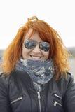 Γυναίκα Moto Στοκ Φωτογραφία