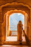 Γυναίκα Rajasthani στοκ φωτογραφία με δικαίωμα ελεύθερης χρήσης