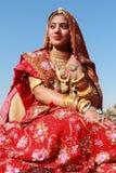 Γυναίκα Rajasthani Στοκ Φωτογραφία