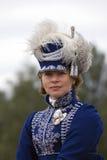 Γυναίκα Reenactor στην ιστορική αναπαράσταση μάχης Borodino στη Ρωσία Στοκ Φωτογραφία