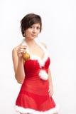 γυναίκα santa φορεμάτων Χριστ&om στοκ φωτογραφίες με δικαίωμα ελεύθερης χρήσης