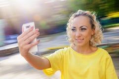 Γυναίκα selfie Στοκ Εικόνες