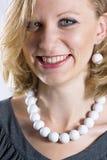 γυναίκα smiley προσώπου Στοκ φωτογραφία με δικαίωμα ελεύθερης χρήσης