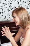 Γυναίκα smilies Στοκ Εικόνα