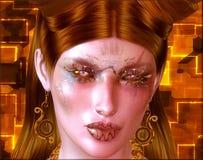 Γυναίκα Steampunk, εκλεκτής ποιότητας και φουτουριστικός Στοκ εικόνες με δικαίωμα ελεύθερης χρήσης