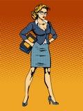 Γυναίκα superhero επιχειρηματιών vamp Στοκ Εικόνα