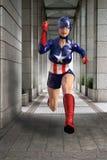 Γυναίκα Superhero, μαχητής εγκλήματος, δικαιοσύνη Στοκ Εικόνες