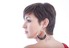 γυναίκα tatoo στοκ φωτογραφία με δικαίωμα ελεύθερης χρήσης