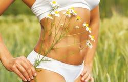 Γυναίκα tummy Στοκ Εικόνες