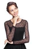 γυναίκα vntage φορεμάτων Στοκ Φωτογραφίες