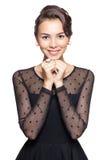 γυναίκα vntage φορεμάτων Στοκ Εικόνες