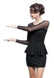 γυναίκα vntage φορεμάτων Στοκ εικόνες με δικαίωμα ελεύθερης χρήσης