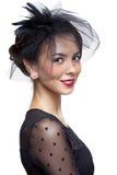γυναίκα vntage φορεμάτων Στοκ Εικόνα