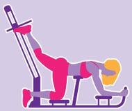 Γυναίκα workout ελεύθερη απεικόνιση δικαιώματος