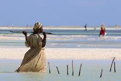Γυναίκα Zanzibar Στοκ φωτογραφία με δικαίωμα ελεύθερης χρήσης