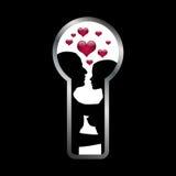 γυναίκες ανδρών αγάπης κλειδαροτρυπών απεικόνιση αποθεμάτων