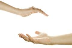 γυναίκες ανδρών χεριών Στοκ Φωτογραφίες