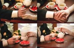 γυναίκες ανδρών χεριών Στοκ Εικόνες