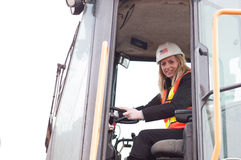 γυναίκες εργαζόμενος κατασκευής Στοκ φωτογραφία με δικαίωμα ελεύθερης χρήσης